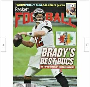 New April 2021 Beckett Football Card Price Guide Magazine With Tom Brady