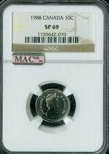 1988 CANADA 10 CENTS NGC MAC SP69  FINEST GRADED POP-3 SPOTLESS *