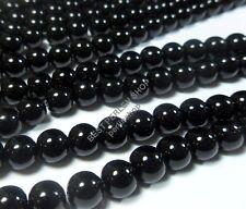 32 Onyx Schwarz Perlen 10mm Poliert Halbedelstein Kugeln Edelstein G609