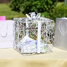 White Wedding Reception Gift Card and Money Box Holder