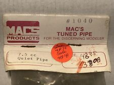 """MACS 7.5cc or .46 Quiet Pipe #1040 -->16"""" long --New in Package --New Old Stock"""