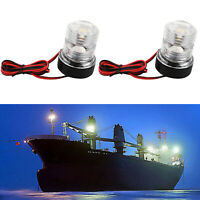 2xLED 12V Navigation Signal Light Anchor Vessel Round Lamp For Marine Boat Yacht