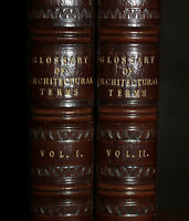 1845 A Glossary of Terms Used in Grecian Roman Italian Gothic Architecture 2 Vol