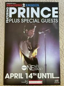 Prince WELCOME 2 AMERICA promotional tour Poster  RARE!!!!!