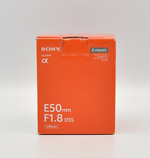 Sony AF 1,8/50 mm sel50f18.ae Argento Lunghezza focale fissa per Sony NUOVO OVP