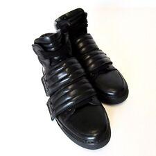 L-1618298 New DSquared Black Nappa Sport Hi-Top Sneaker Boot Shoes Size US 9