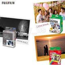 50 Sheets Fujifilm Instax Wide Film Monochrome+Rainbow+White for 300 200 210 100