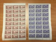 1936 New Zealand Chambers of Commerce 5 Sheets of 24 Mint Stamps All Denoms