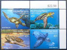 2002 Cocos Keeling Island Stamps - Sea Turtles - Cnr Block 4 - 4x45c-Tabs MNH