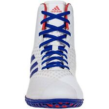 Adidas Mat Wizard 4 Size 12 White Red Royal Blue  Wrestling Shoes BC0533