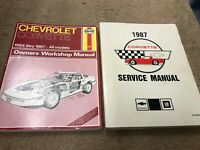 1987 Chevrolet CHEVY CORVETTE Service Repair Workshop Shop Manual Set W Haynes