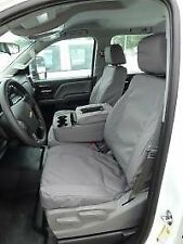 Front Seat Covers for 2014 2015 2016 2017 Chevy Silverado w/40/20/40 Split -GRAY