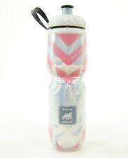 POLAR BOTTLE Insulated CHEVRON RED 24 oz Sport Bike Hike Water Bottle BPA Free!