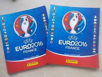 2 x UEFA EURO 2016 FRANCE PANINI FOOTBALL STICKER ALBUMS - EMPTY WITH 6 STICKERS