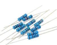200PCS 2W 1R~1M 5/% METAL OXIDE FILM resistor 10R 100R 220R 1K 1.5K 2.2K 4.7K 10K