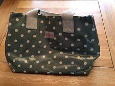 Cath Kidston Green Spotty Oil Cloth Bag