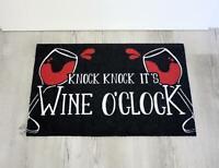 Wine O'Clock Fußmatte - Schmutzfangmatte Fußabtreter - lustig Spruch Rotwein NEU