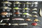 Huge Lot! Of 22 Rebel Vintage Fishing Lures Shallow to Deepdiving