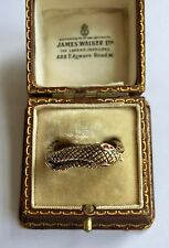 Set With Ruby Eyes Circa 1800's A Stunning Gold Black Enamel Snake Ring