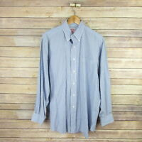 BROOKS BROTHERS Men's Long Sleeve Button Front Shirt 16 - 4 Blue Striped