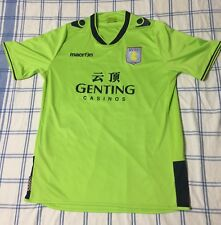 Aston Villa FC Jersey Size XL 2012-13 Away Neon Green Soccer Football Macron EPL