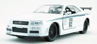 Jada JDM Tuners 2002 Nissan Skyline GT-R R34 White1:32 Diecast Car Limited Box