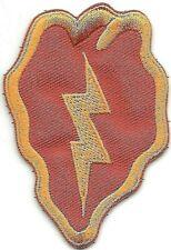 """2 3/4 """" Armée Couleur 25th Infanterie Division Ssi Patch hook & loop tape"""