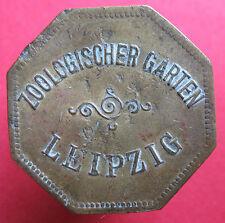 Old Rare Deutsche token -Leipzig -Zoologischer Garten -UNLISTED -mehr am ebay.pl