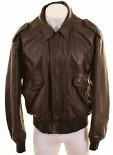 SCHOTT Mens Leather Jacket Size 52 2XL Brown Vintage NJ14