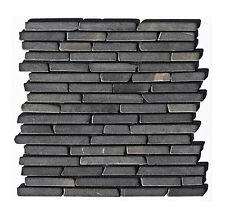 1 Matte Marmor-Stab-Mosaik-Fliesen Boden Wand Bad Küche Grau ST-431 Lager Herne