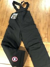 NEW Canada Goose Down Bib Size Small Youth Snow Pants Black