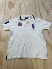 New listing Polo Ralph Lauren Men Large Big Pony Usa American Flag Short Sleeve Polo Shirt