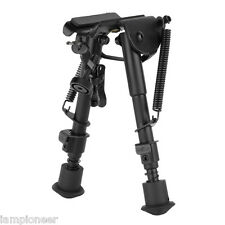 "6"" - 9"" Adjustable Spring Return Rifle Hunting Sniper Bipod Sling Swivel Mount"
