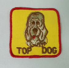 """Vintage 1970's NOS """"Top Dog"""" Patch Truckers Jacket Novelty Patch"""
