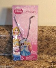 Disney Princess Jewelry Dog Tag Necklace Blue Cinderella Rapunzel Snow White NEW