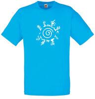 Naruto Four Symbols Seal, Naruto inspired Men's Printed T-Shirt