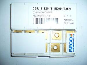 10.Stk Wendeplatten 335,19-12045T-MD09, T25M ***Neu***