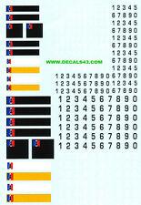 decals decalcomanie plaque immatriculation gendarmerie 1/24 1/18