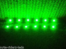GREEN 5050 SMD LED STRIPS PAIR OF 6 INCH STRIPS FITS  CARS MOTORCYCLES & BOATS