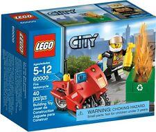 Lego 60000 Fire Motorcycle 40 pcs new mini figure firefighter recycle bin fire