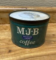 Vintage  MJB 1LB Coffee Can, Tin, Regular Grind Can
