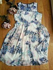 Dorothy Perkins dress size 18 Evening Day summer fully linde shift floral dress