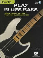 How To Play Blues Bass Guitar TAB Music Book/Audio Learn Create and Apply Lines