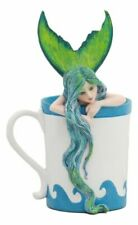 Amy Brown Nautical Fantasy Morning Bliss Pretty Mermaid in Coffee Cup Statue