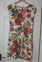 Joules ~ Floral Viscose Dress ~ Size 12