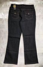 Nine West Arianna Boot Cut Jeans Dark Indigo Wash Stretch Denim Women's Size 12
