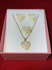 Silver Heart Set With Lab Diamond.
