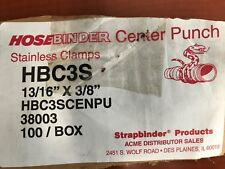 """Strapbinder Hose Clamp Stainless Steel Hbc3S 13/16"""" X 3/8"""" (100 Pcs)"""