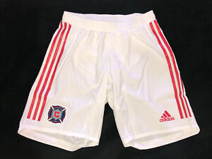 Adidas Chicago Fire MLS Soccer Shorts White Size Small