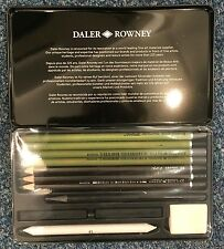 Daler ROWNEY DIBUJO Negro Caja, GRAHITE, lápices, pasteles De Masilla De Goma